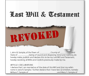 Revoking A Will In Texas